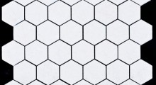 white K.P hexagonal 5 cm