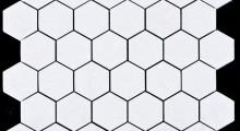 white K.P hexagonal 5 cm