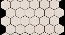 Moleanos Vidraço b2 Nude Hazelnut hexagonal 5 cm